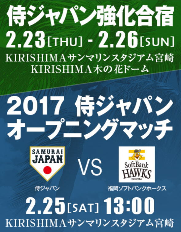 WBCキャンプ2017 宮崎